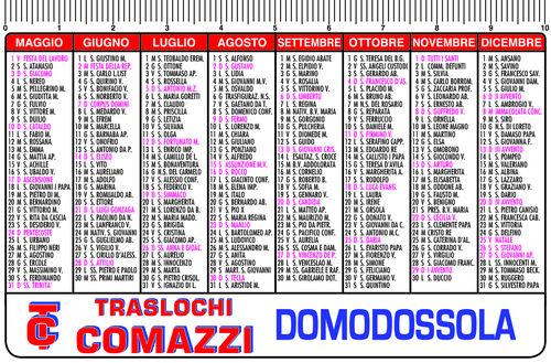 Calendario Tascabile 2020 Da Stampare.Calendarietti Semestrini Tipografia Online