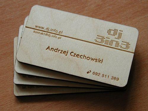Biglietto da visita con incisione