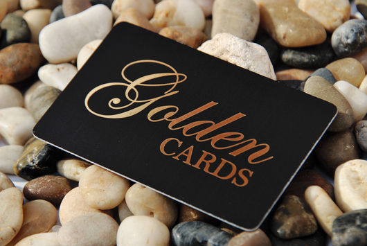 CARD TESSERE PVC CON HOT STAMPING ORO - ARGENTO - ...