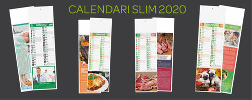 Calendario Taglio Legna 2020.Calendari Slim Illustrati Tipografia Online