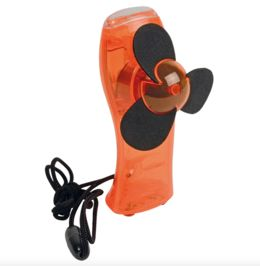 Mini ventilatore con torcia integrata (Batterie AA...